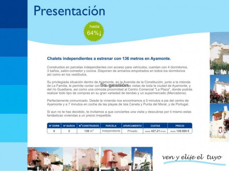 Chalet TRES CRUCES Ayamonte HUELVA FLS Gestión